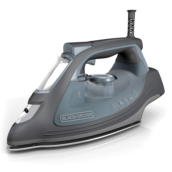 Plancha de vapor Black + Decker, 1200 Watts. Color Gris.