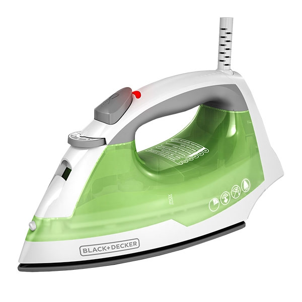 Plancha de vapor Black + Decker, 1200 Watts. Color Verde.